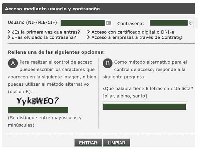 Acceso al SAE con usuario / clave / Certificado digital