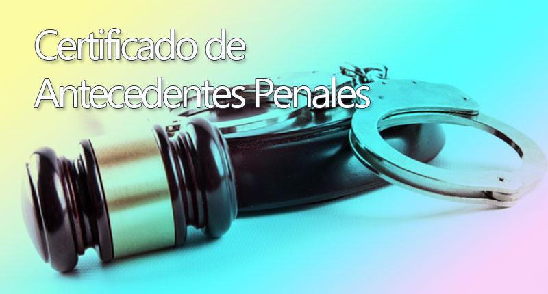 Certificado de antecedentes penales