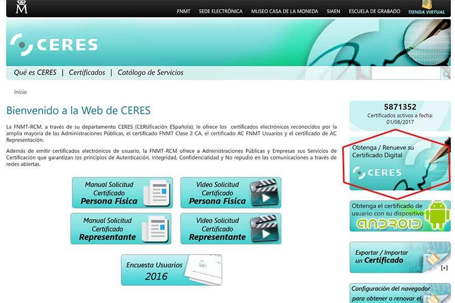 Certificado ceres