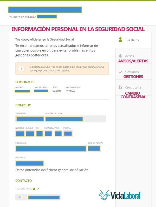 Datos personales contribuyente