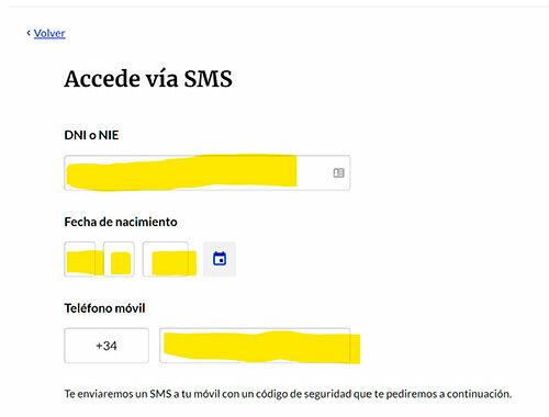 Vida laboral vía SMS