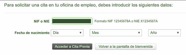 Acceder al SAE por NIF/CIF